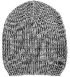 Серая шапка из полиакрила Tom Tailor Denim