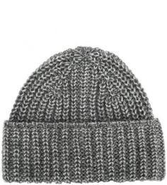 Серая шапка из полиакрила и шерсти Drykorn