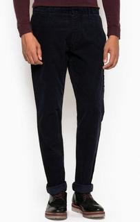 Темно-синие вельветовые брюки из хлопка Armani Jeans