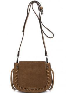 Замшевая коричневая сумка через плечо Gianni Chiarini