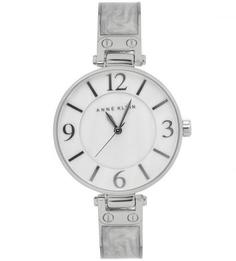 Часы круглой формы с браслетом из нержавеющей стали Anne Klein