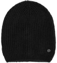 Черная шапка из полиакрила Tom Tailor Denim
