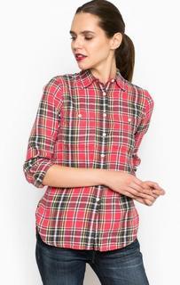 Приталенная рубашка из льна и хлопка D&S Ralph Lauren