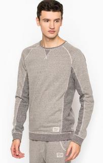 Хлопковый свитшот серого цвета Tom Tailor Denim