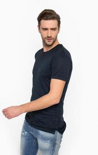 Удлиненная футболка синего цвета Alcott