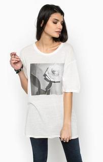 Удлиненная футболка с цветочным принтом Diesel
