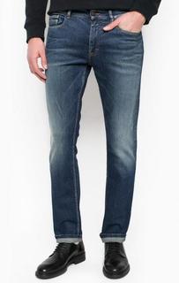 Джинсы с заломами и потертостями Calvin Klein Jeans