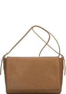 Кожаная сумка с откидным клапаном через плечо Coccinelle