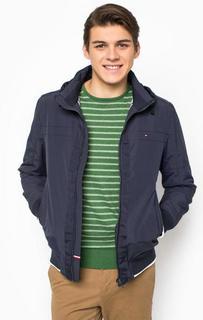 Синяя куртка на молнии Tommy Hilfiger
