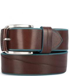 Широкий кожаный ремень коричневого цвета Miguel Bellido