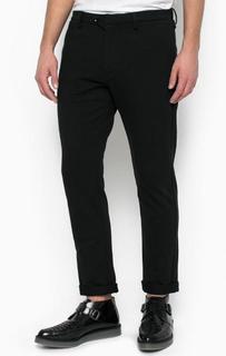 Черные брюки из хлопка прямого кроя Diesel