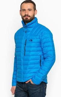 Легкий пуховик синего цвета The North Face
