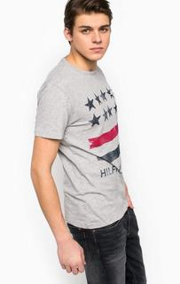 Хлопковая футболка с карманом Hilfiger Denim