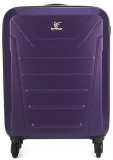 Пластиковый фиолетовый чемодан на колесах Verage