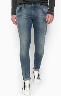 Синие зауженные джинсы с застежкой на молнию и болт G Star RAW