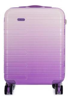 Пластиковый розовый чемодан на колесах Verage