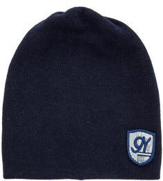 Синяя шапка из шерсти и вискозы Noryalli