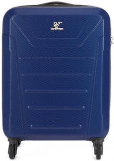 Пластиковый чемодан на колесах синего цвета Verage