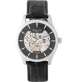Механические часы с кожаным браслетом Kenneth Cole