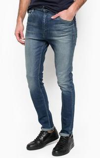 Джинсы скинни с потертостями и заломами Calvin Klein Jeans