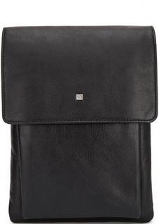 Черная кожаная сумка со съемным плечевым ремнем Sergio Belotti