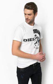 Хлопковая футболка с короткими рукавами Diesel