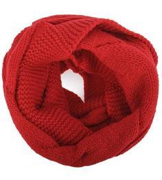 Красный шарф-хомут из вискозы Eleganzza