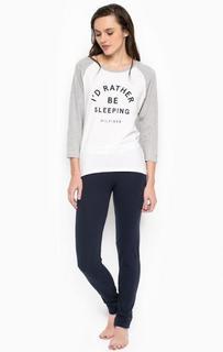 Комплект из хлопковых футболки и брюк Tommy Hilfiger