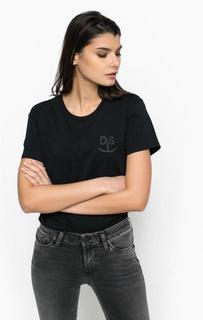 Однотонная футболка с короткими рукавами Diesel