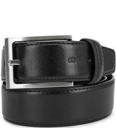 Черный кожаный ремень Strellson