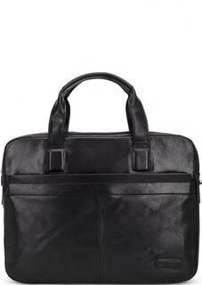 Кожаная сумка с короткими ручками и двумя отделами Sergio Belotti