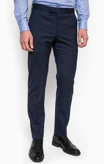 Синие зауженные шерстяные брюки Strellson