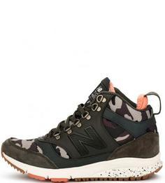 Утепленные кроссовки с замшевыми вставками New Balance