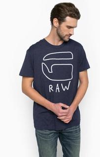 Хлопковая футболка с круглым вырезом G Star RAW