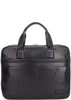 Кожаная сумка на молнии с двумя отделами Sergio Belotti