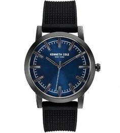 Часы с черным силиконовым браслетом Kenneth Cole