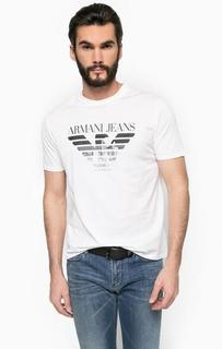 Футболка из хлопка с логотипом бренда Armani Jeans