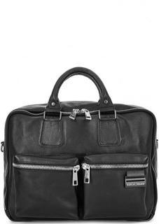 Вместительная кожаная сумка с двумя отделами Replay