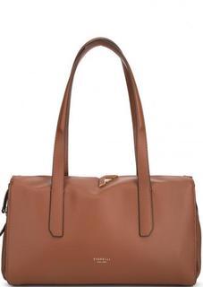 Коричневая сумка с двумя отделами Fiorelli