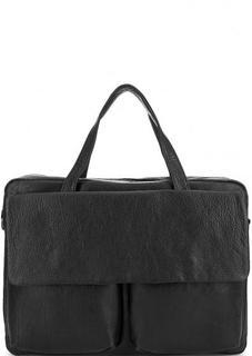 Кожаная сумка с ручками и съемным ремнем Bruno Rossi