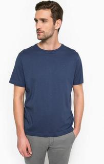 Синяя хлопковая футболка с круглым вырезом Lerros
