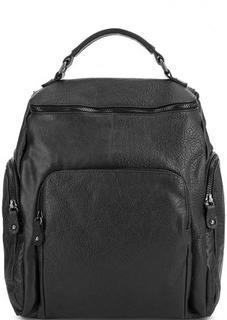 Кожаный рюкзак с одним отделом Bruno Rossi