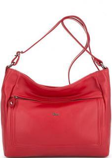 Красная кожаная сумка через плечо Bruno Rossi