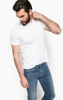 Футболка с объемным принтом на спине Armani Jeans