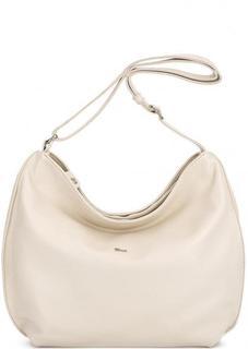 Кожаная сумка через плечо молочного цвета Bruno Rossi
