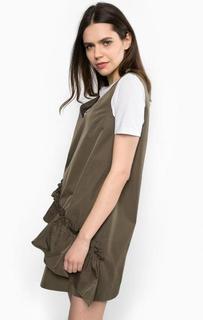 Короткое платье цвета хаки Pinko