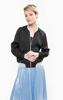 Однотонная черная куртка на молнии Vero Moda