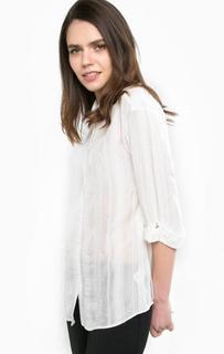 Блуза из вискозы с отворотами на рукавах Patrizia Pepe