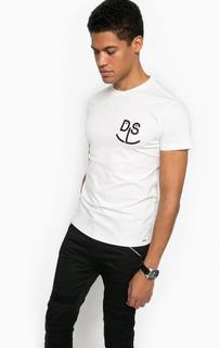 Белая футболка из хлопка Diesel
