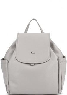 Серый кожаный рюкзак с узкими лямками Bruno Rossi